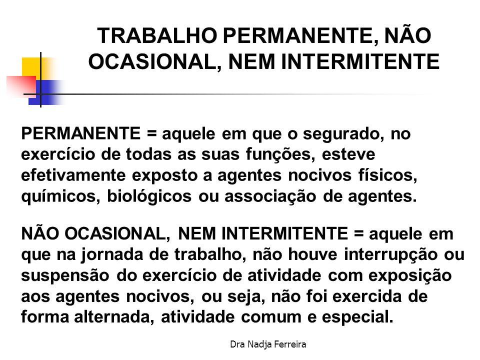 Dra Nadja Ferreira COMPROVAÇÃO DO EXERCÍCIO DE ATIVIDADE ESPECIAL Formulário Informações sobre Atividades com exposição a agentes agressivos-Aposentadoria Especial-Modelo DIRBEN 8030, SB40, DISES 5235, DSS 8030 ou PPP), emitido pela Empresa ou seu preposto, com base em Laudo Técnico.