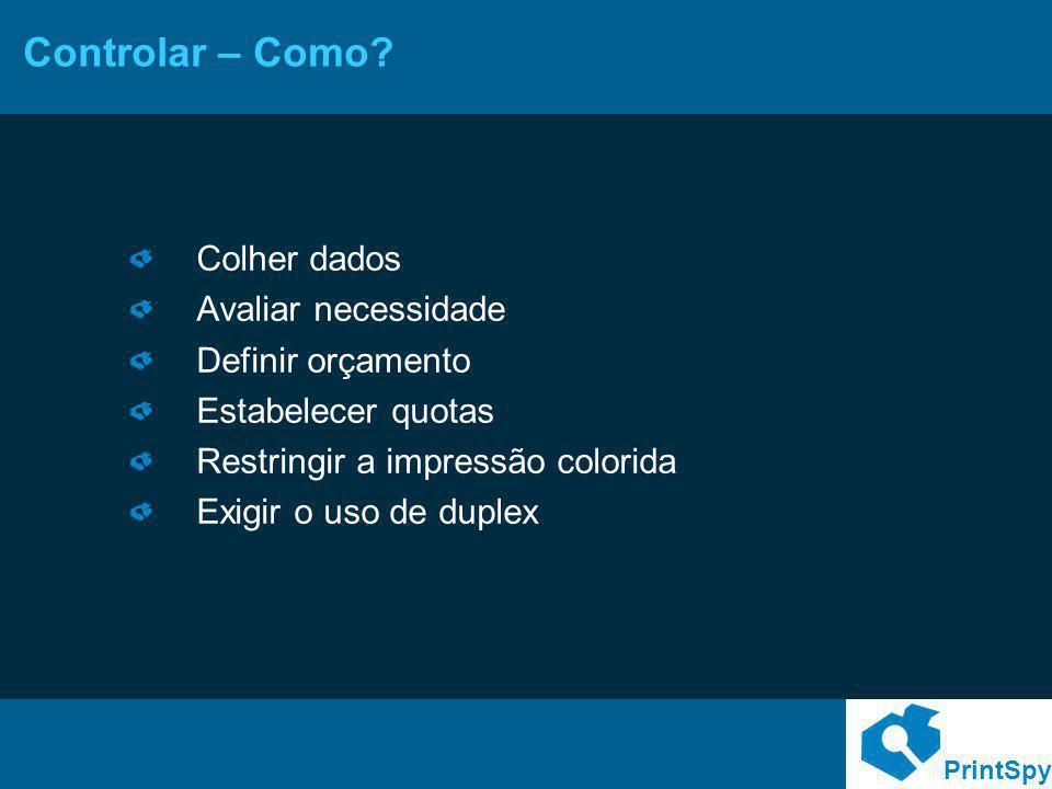 PrintSpy Racionalizar o uso – Como.