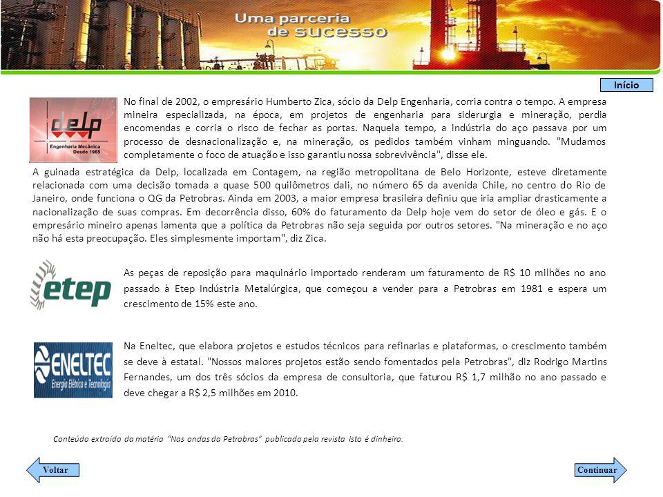 A empresa fornecia para cimenteiras e siderúrgicas quando em 2003 resolveu se qualificar para atender a Petrobras.