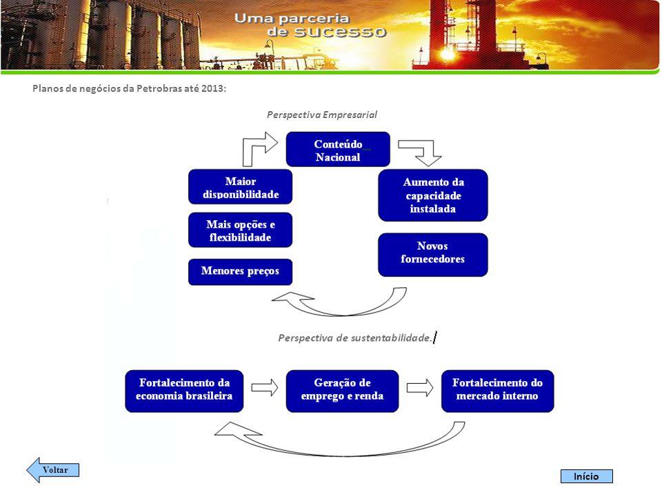 Planos de negócios da Petrobras até 2013: Perspectiva Empresarial Voltar Início