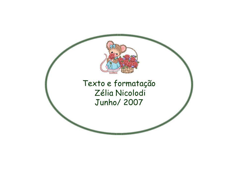 Texto e formatação Zélia Nicolodi Junho/ 2007