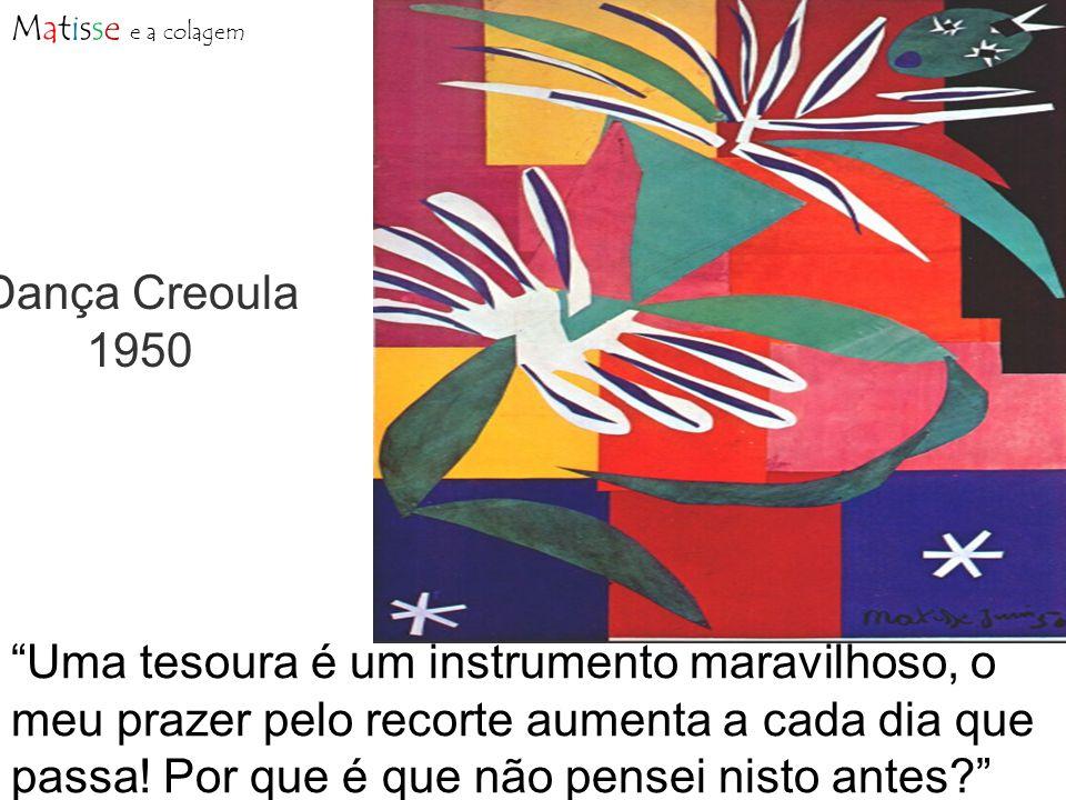 Dança Creoula 1950 Uma tesoura é um instrumento maravilhoso, o meu prazer pelo recorte aumenta a cada dia que passa.