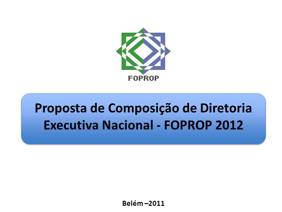 Proposta de Composição de Diretoria Executiva Nacional - FOPROP 2012 Belém –2011