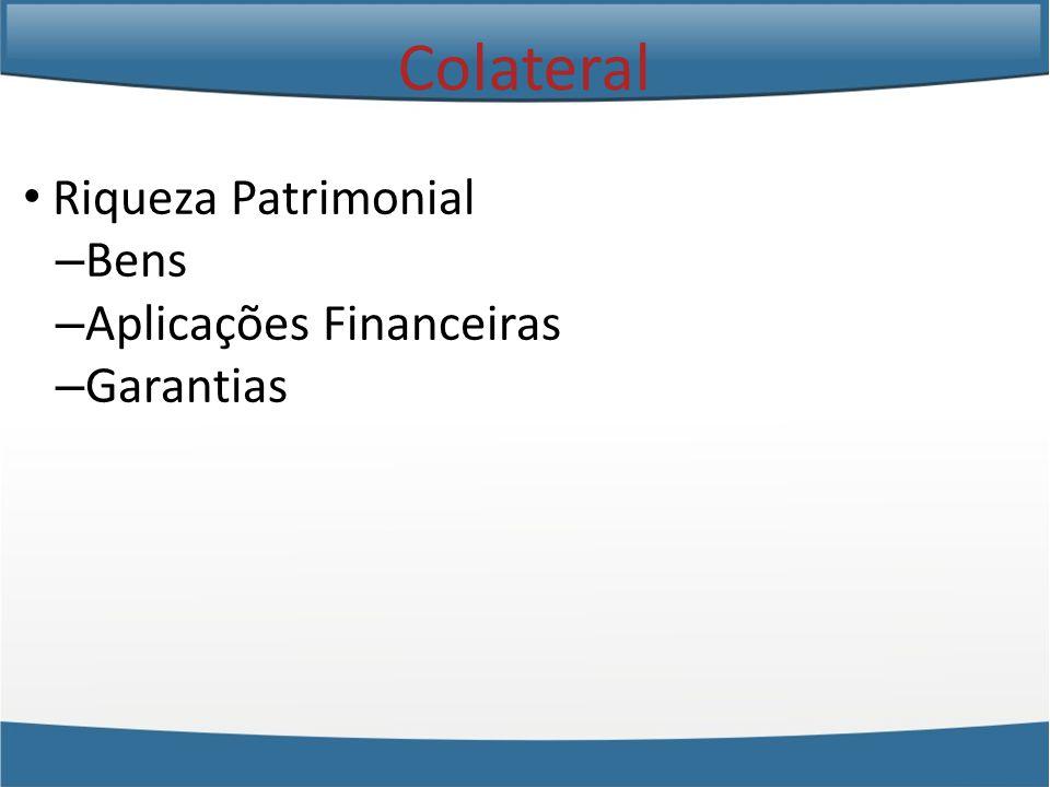 Riqueza Patrimonial – Bens – Aplicações Financeiras – Garantias Colateral
