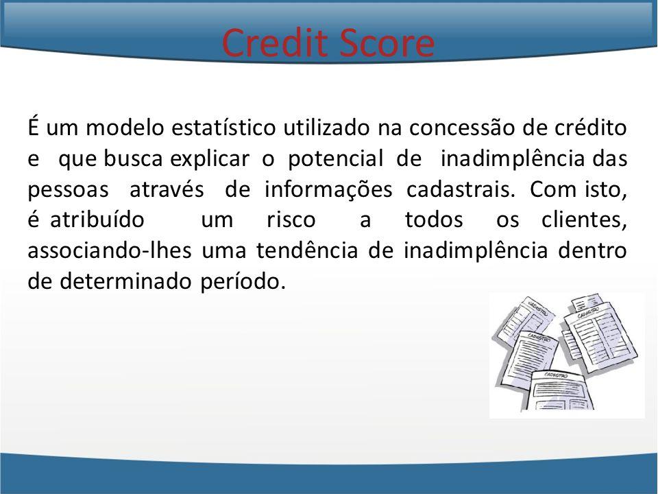 É um modelo estatístico utilizado na concessão de crédito e que busca explicar o potencial de inadimplência das pessoas através de informações cadastrais.