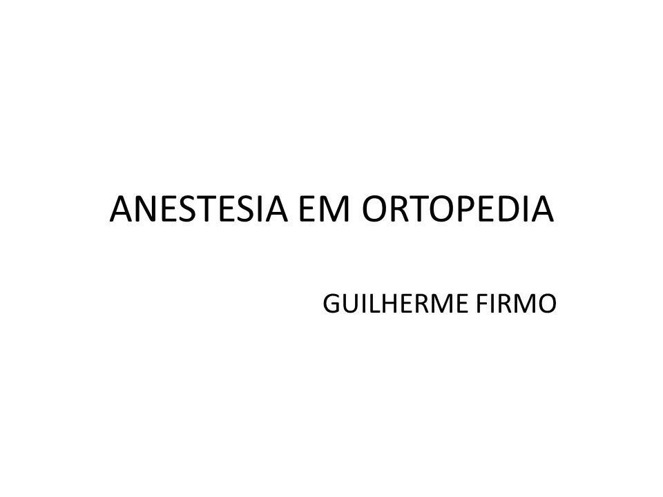 Artroplastia de Quadril Estratégias para Reduzir o Embolismo por Cimento FiO2 Manter euvolemia Lavagem por alta pressão do sítio cirúrgico * Mais comum durante a inserção da prótese