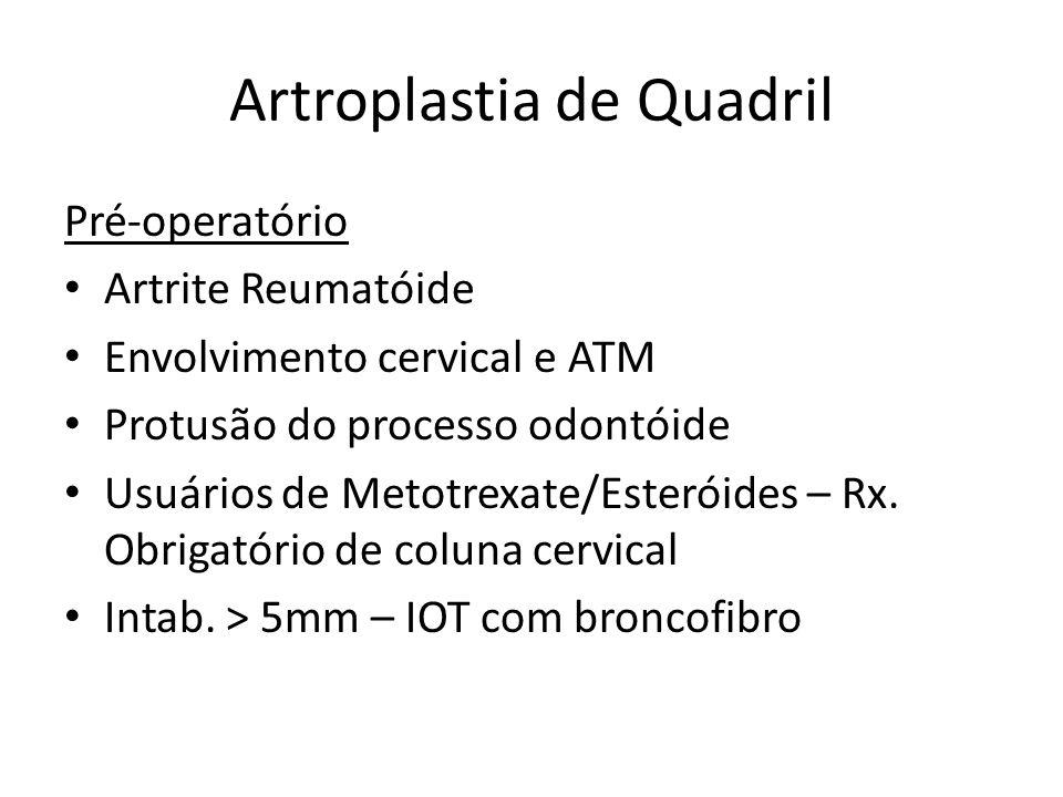 Questão Paciente portadora de AR, HAS, DM está agendada p/ cirurg.
