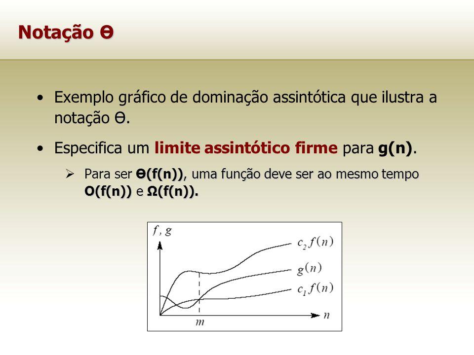Notação Ө ӨExemplo gráfico de dominação assintótica que ilustra a notação Ө. Especifica um limite assintótico firme para g(n). Ө(f(n)), uma função dev