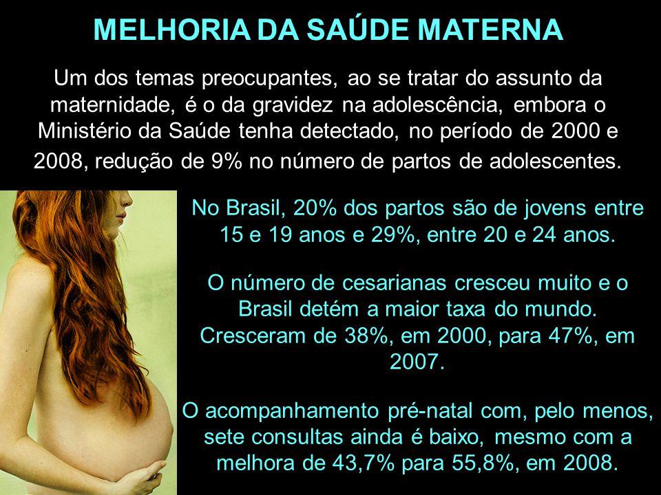 Um dos temas preocupantes, ao se tratar do assunto da maternidade, é o da gravidez na adolescência, embora o Ministério da Saúde tenha detectado, no p
