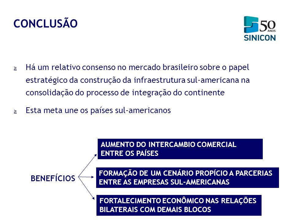 Há um relativo consenso no mercado brasileiro sobre o papel estratégico da construção da infraestrutura sul-americana na consolidação do processo de i