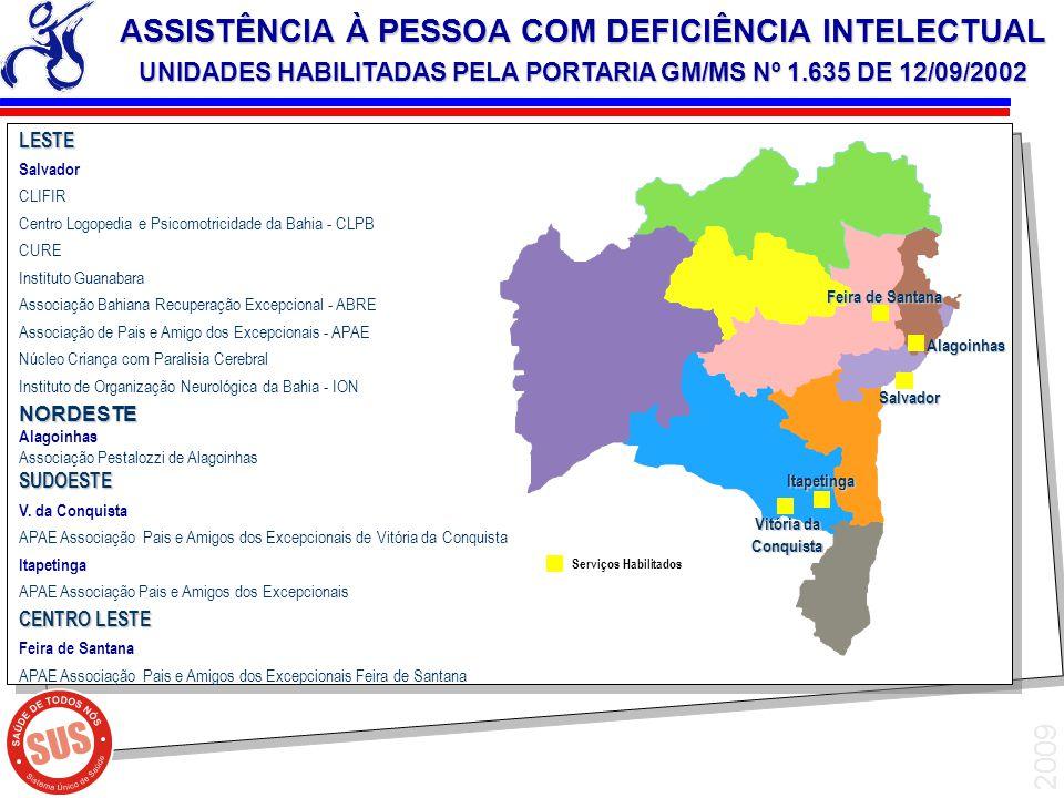 2009 LESTE Salvador CLIFIR Centro Logopedia e Psicomotricidade da Bahia - CLPB CURE Instituto Guanabara Associação Bahiana Recuperação Excepcional - A
