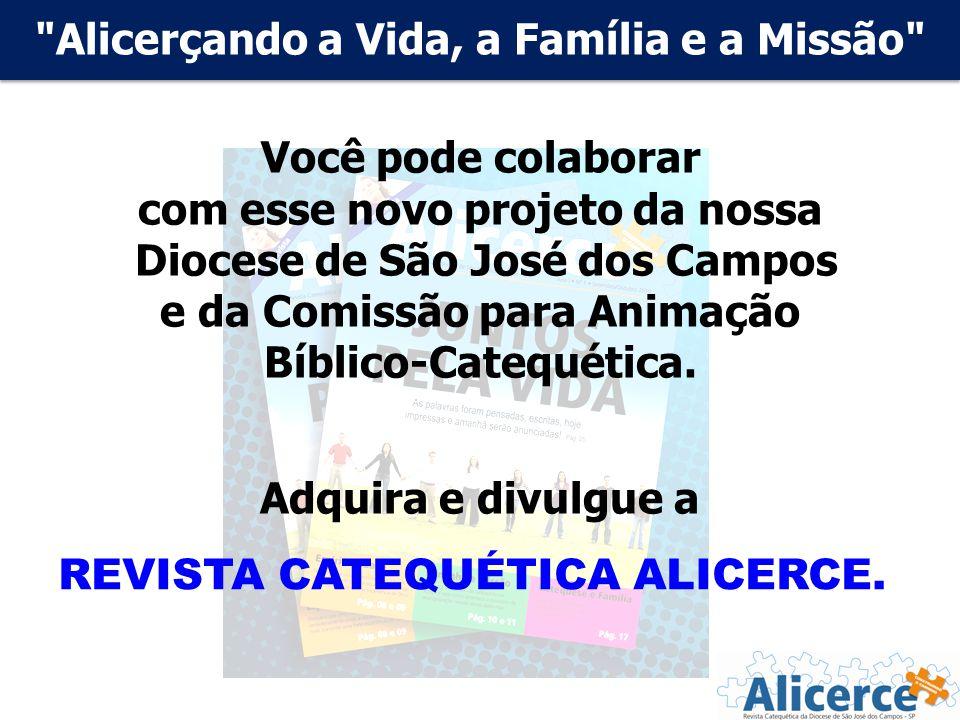 Alicerçando a Vida, a Família e a Missão Você pode colaborar com esse novo projeto da nossa Diocese de São José dos Campos e da Comissão para Animação Bíblico-Catequética.