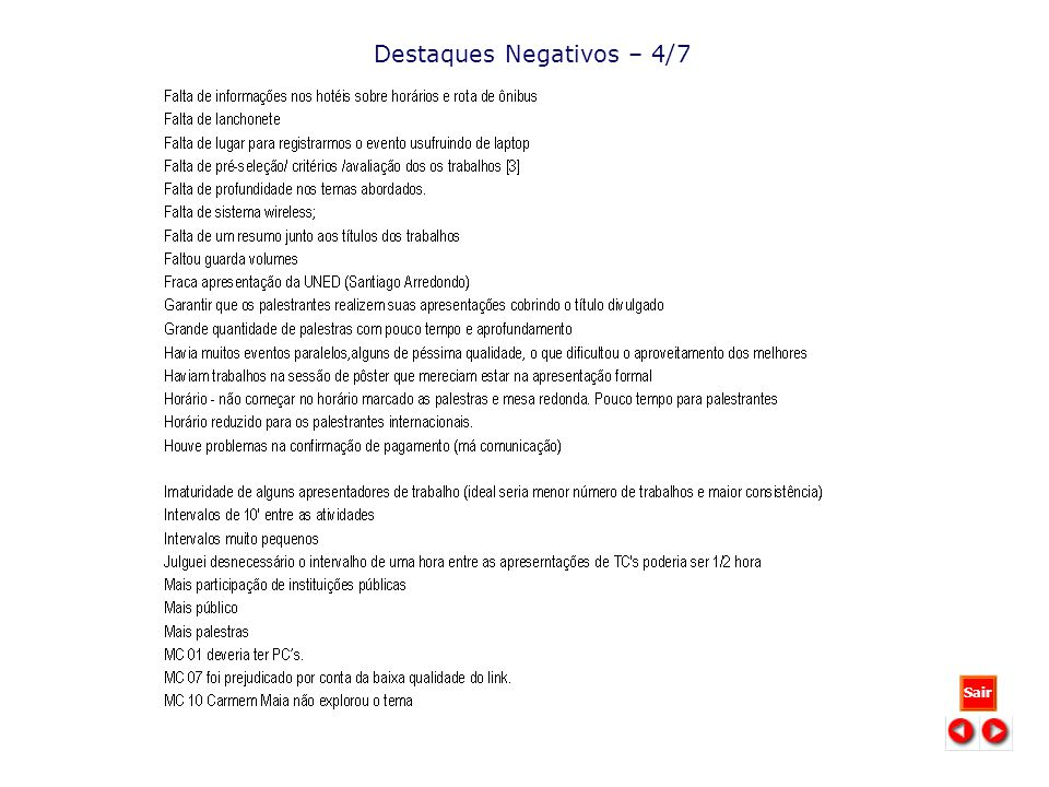 Destaques Negativos – 4/7 Sair