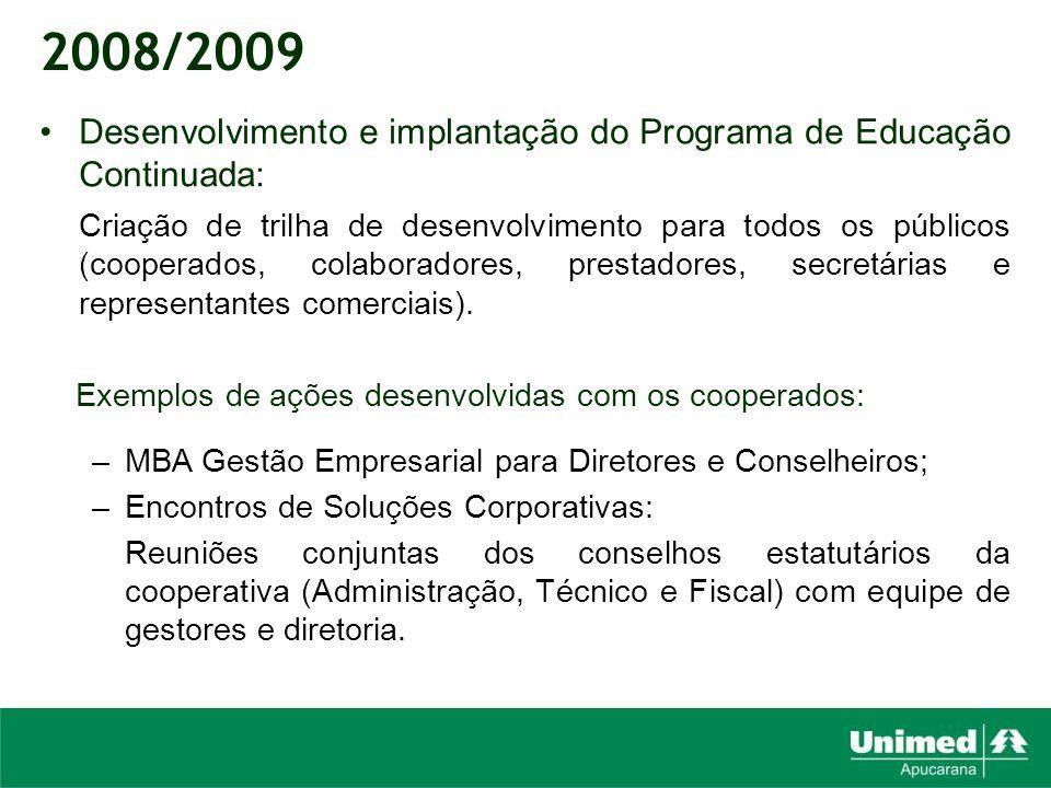 Desenvolvimento e implantação do Programa de Educação Continuada: Criação de trilha de desenvolvimento para todos os públicos (cooperados, colaborador