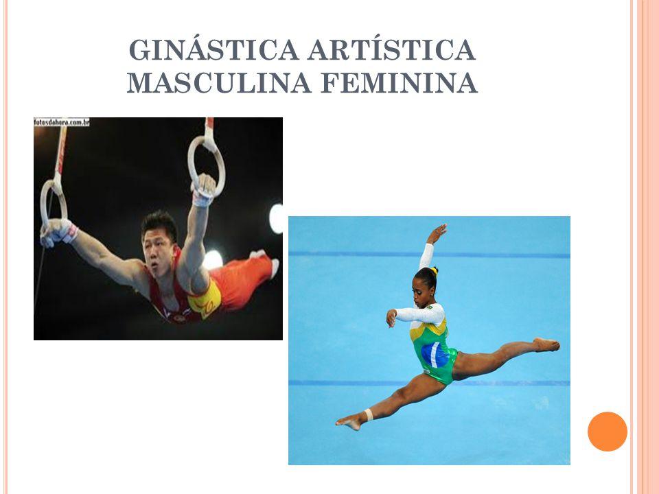 GINÁSTICA RÍTMICA Esta ginástica coordena elementos de dança e ballet juntamente com seus aparelhos como: corda, bola, maças, fita e arco.