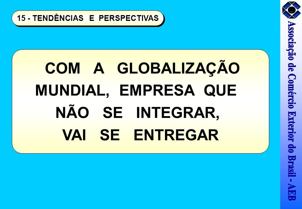 15 - TENDÊNCIAS E PERSPECTIVAS COM A GLOBALIZAÇÃO MUNDIAL, EMPRESA QUE NÃO SE INTEGRAR, VAI SE ENTREGAR