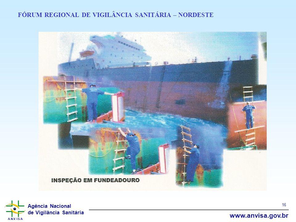 Agência Nacional de Vigilância Sanitária www.anvisa.gov.br 16 FÓRUM REGIONAL DE VIGILÂNCIA SANITÁRIA – NORDESTE