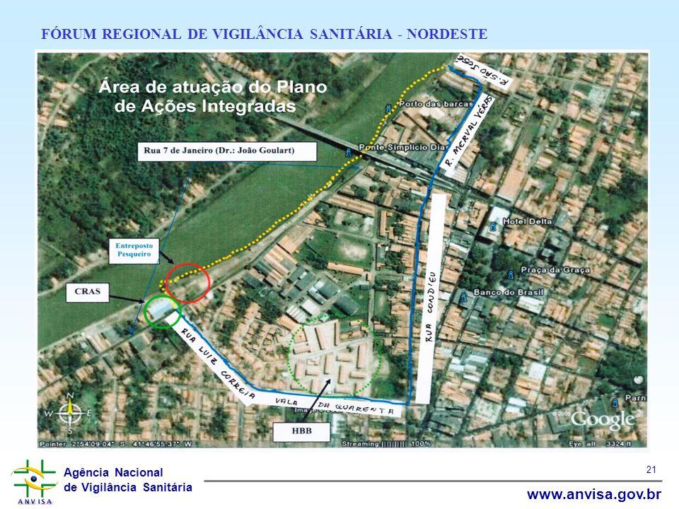 Agência Nacional de Vigilância Sanitária www.anvisa.gov.br 21 FÓRUM REGIONAL DE VIGILÂNCIA SANITÁRIA - NORDESTE