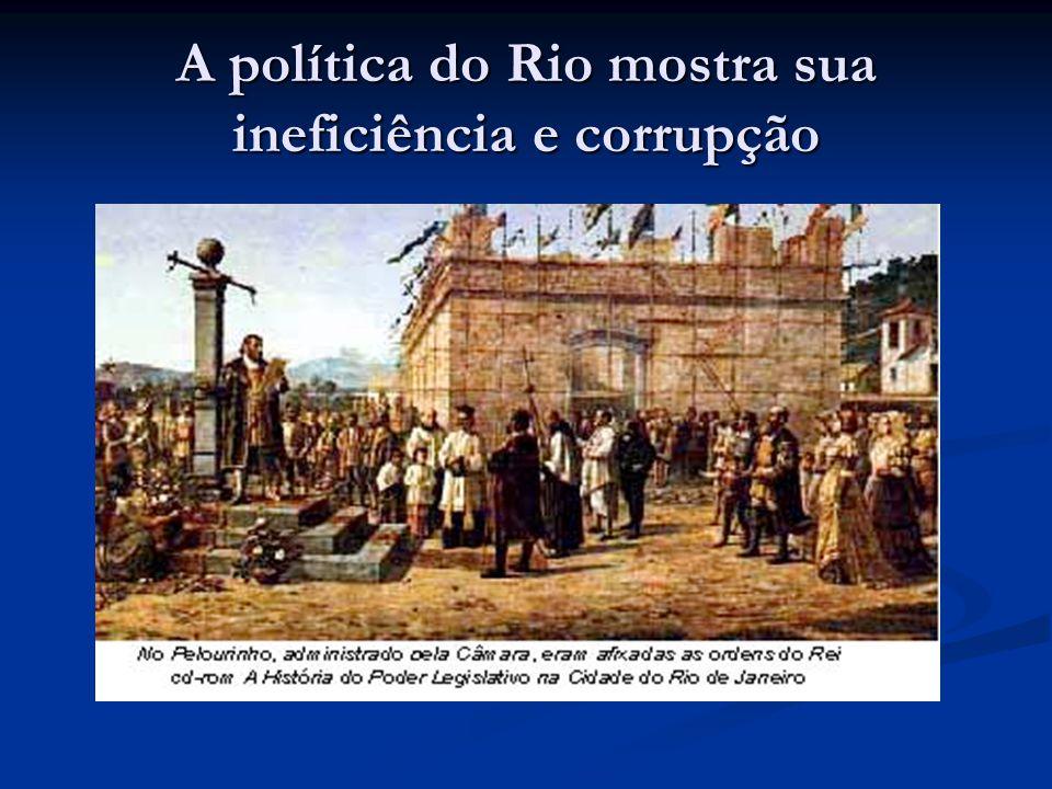 A política do Rio mostra sua ineficiência e corrupção