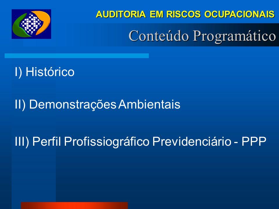 RISCOS OCUPACIONAIS Demonstrações Ambientais MINISTÉRIO DA PREVIDÊNCIA SOCIAL INSTITUTO NACIONAL DO SEGURO SOCIAL
