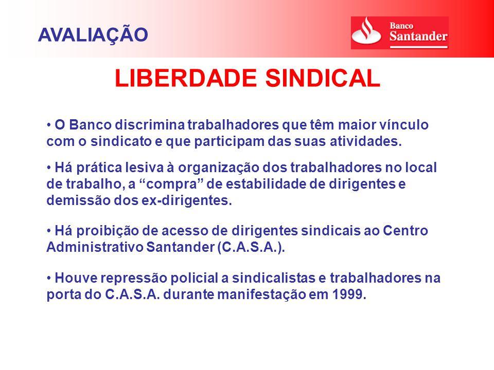 O Banco discrimina trabalhadores que têm maior vínculo com o sindicato e que participam das suas atividades.