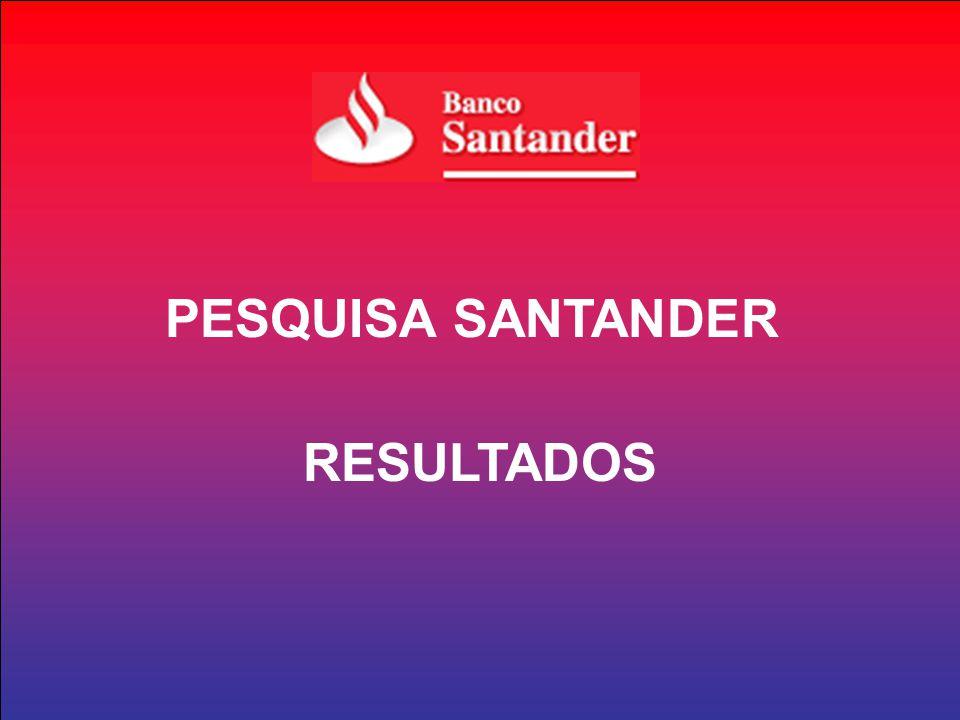 PESQUISA SANTANDER RESULTADOS