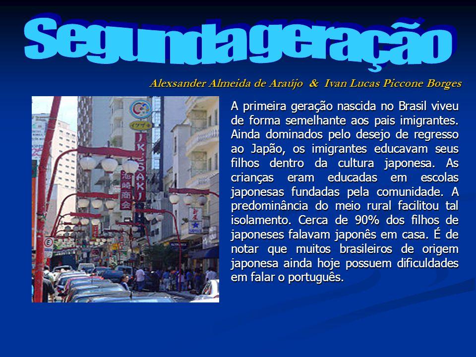 A primeira geração nascida no Brasil viveu de forma semelhante aos pais imigrantes. Ainda dominados pelo desejo de regresso ao Japão, os imigrantes ed