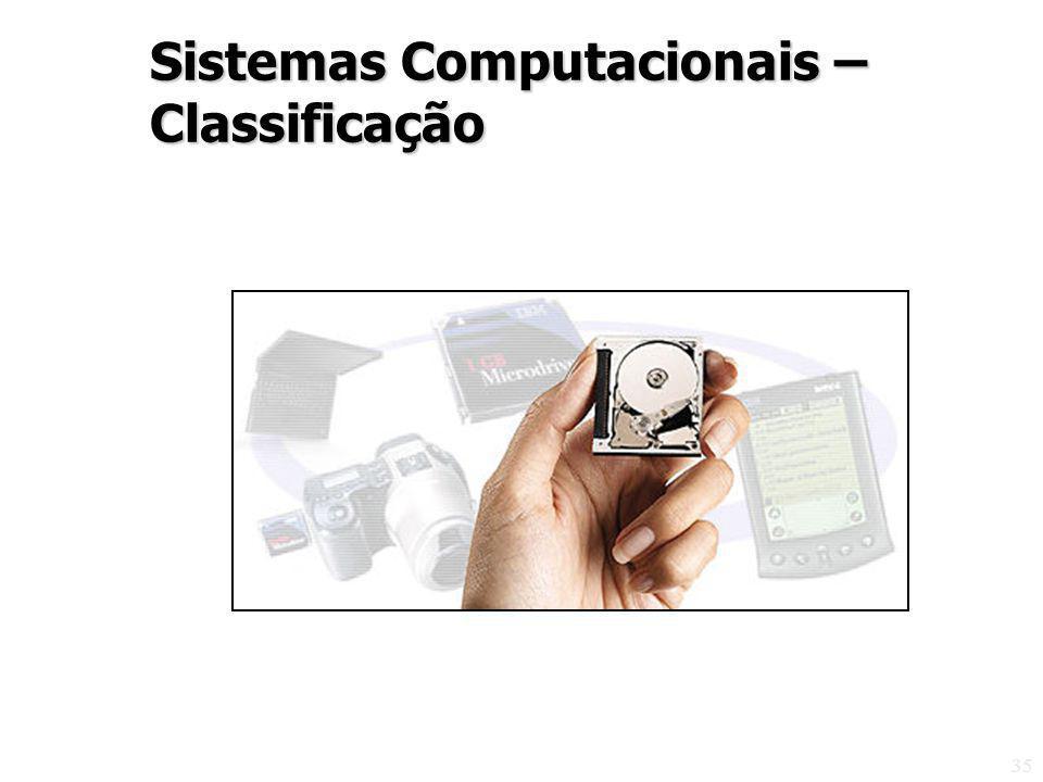 35 Sistemas Computacionais – Classificação