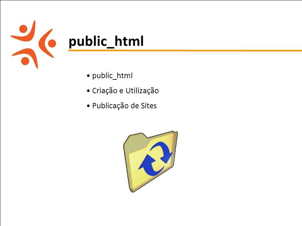 pet computação UFPE public_html Criação e Utilização Publicação de Sites