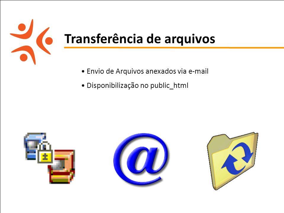 pet computação UFPE Transferência de arquivos Envio de Arquivos anexados via e-mail Disponibilização no public_html
