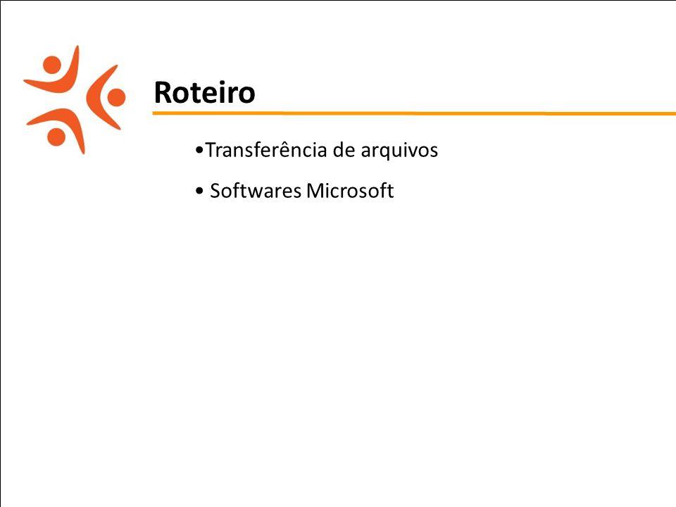 pet computação UFPE Roteiro Transferência de arquivos Softwares Microsoft