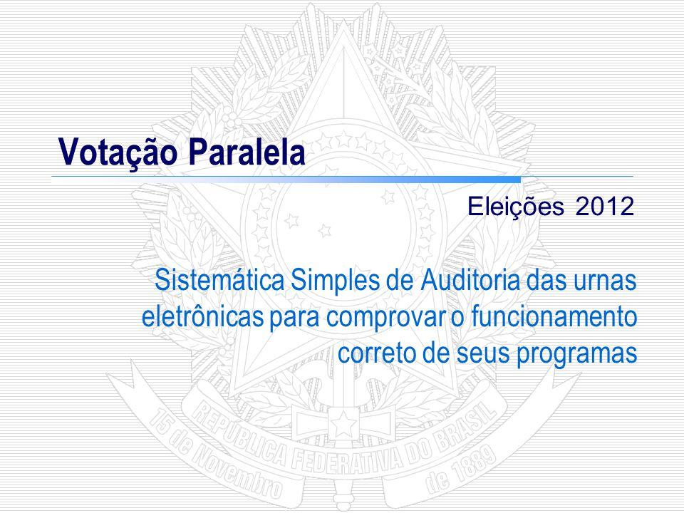 3 VOTAÇÃO PARALELA O que é a Votação Paralela.
