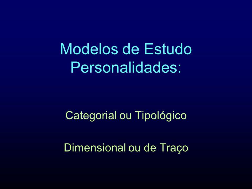 Modelos de Estudo Personalidades: Categorial ou Tipológico Dimensional ou de Traço