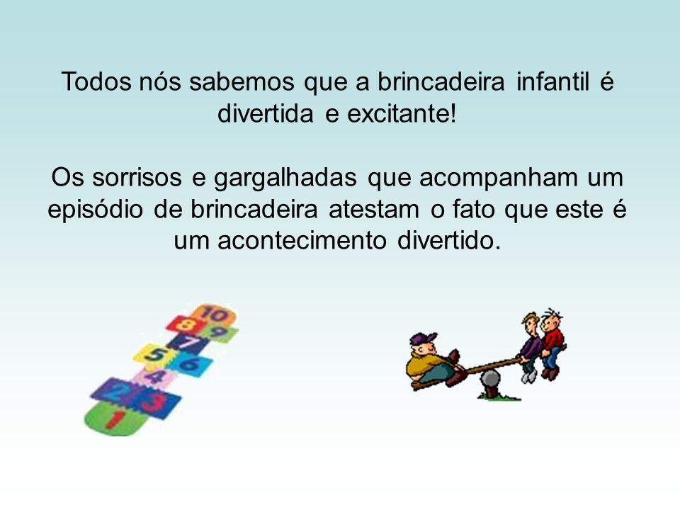 Todos nós sabemos que a brincadeira infantil é divertida e excitante! Os sorrisos e gargalhadas que acompanham um episódio de brincadeira atestam o fa