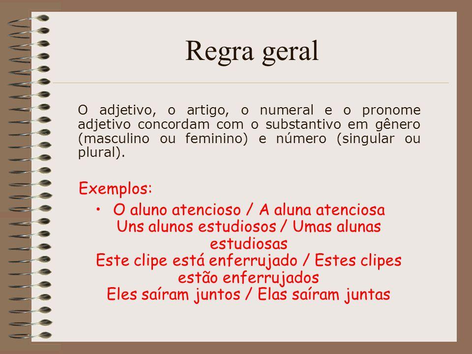 PRONOME INTERROGATIVO E INDEFINIDO Se o pronome interrogativo ou indefinido estiver no singular o verbo só concordará com ele.