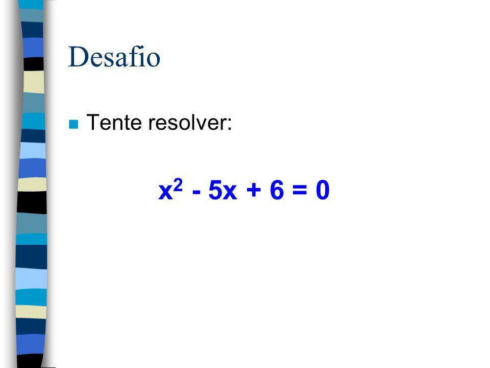 Note que: Resolver uma equação é procurar o valor da variável que torna a igualdade verdadeira n 2.x + 4 = 10 x = 3 pois: 2.3 + 4 = 10