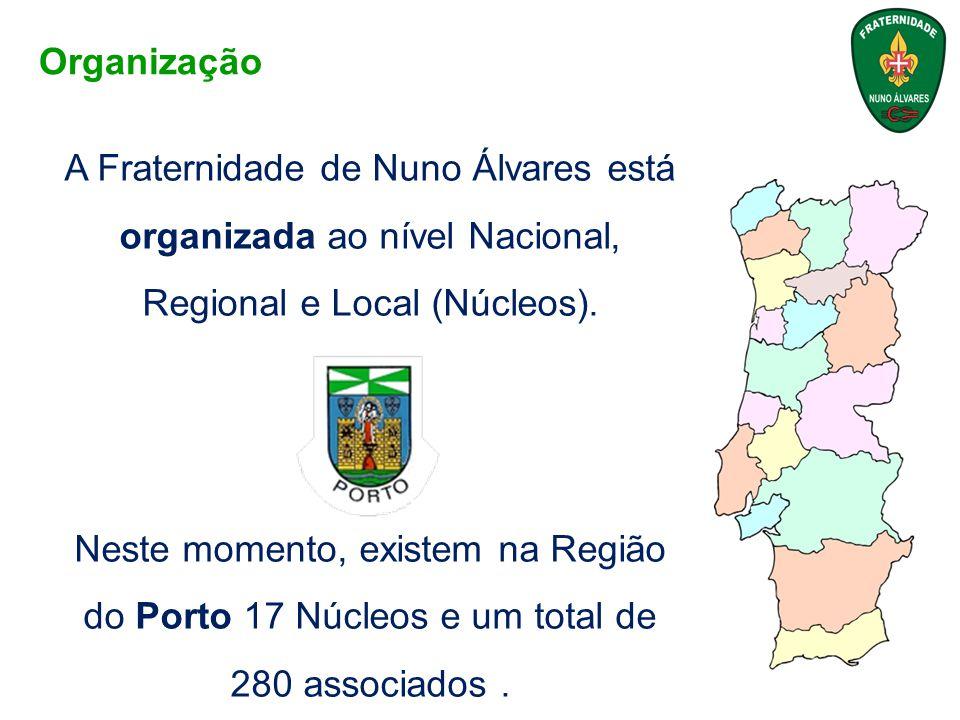 A Fraternidade de Nuno Álvares está organizada ao nível Nacional, Regional e Local (Núcleos). Neste momento, existem na Região do Porto 17 Núcleos e u