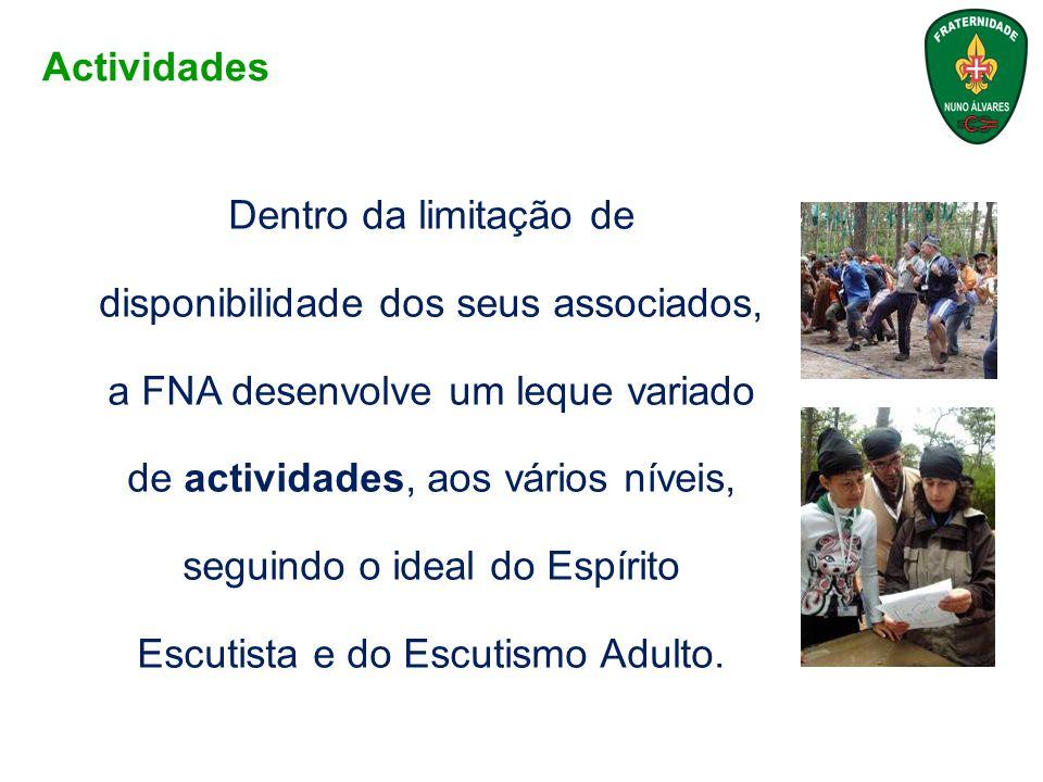 Dentro da limitação de disponibilidade dos seus associados, a FNA desenvolve um leque variado de actividades, aos vários níveis, seguindo o ideal do E
