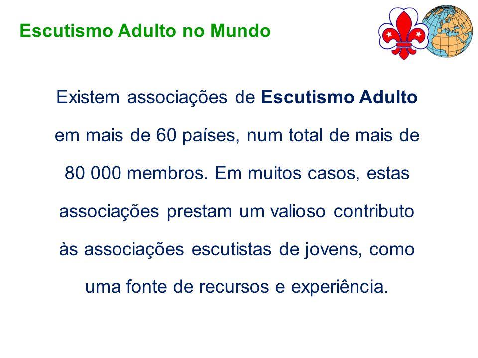 Existem associações de Escutismo Adulto em mais de 60 países, num total de mais de 80 000 membros. Em muitos casos, estas associações prestam um valio