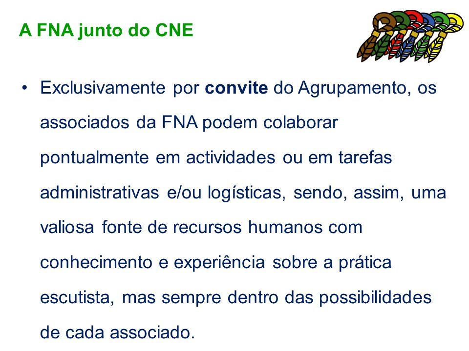 Exclusivamente por convite do Agrupamento, os associados da FNA podem colaborar pontualmente em actividades ou em tarefas administrativas e/ou logísti