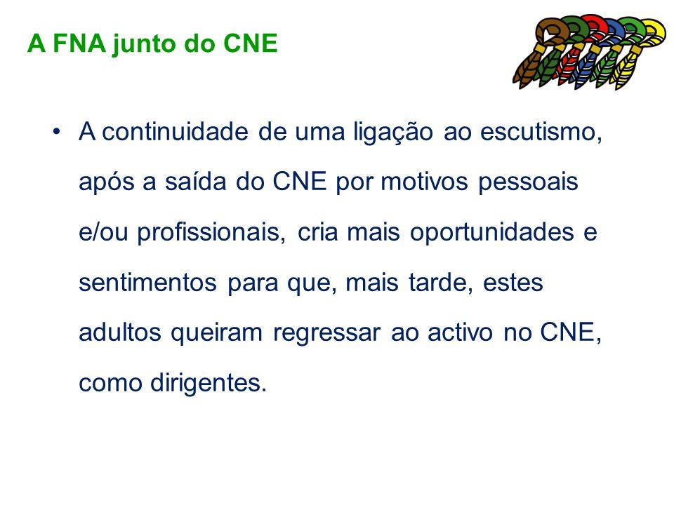 A continuidade de uma ligação ao escutismo, após a saída do CNE por motivos pessoais e/ou profissionais, cria mais oportunidades e sentimentos para qu