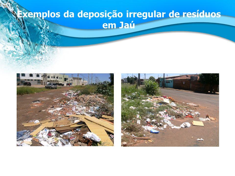 Exemplos da deposição irregular de resíduos em Jaú