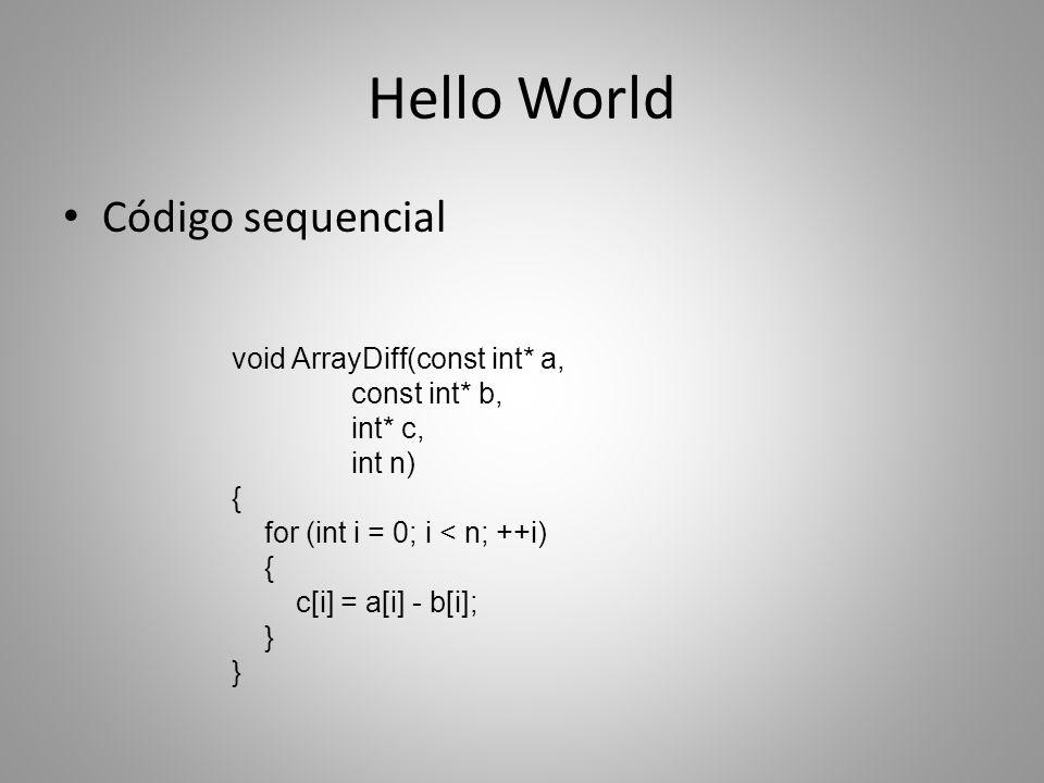 Arquitetura OpenCL Modelo de execução: identificadores 01 0 1 Grupo de trabalho: (1, 0)