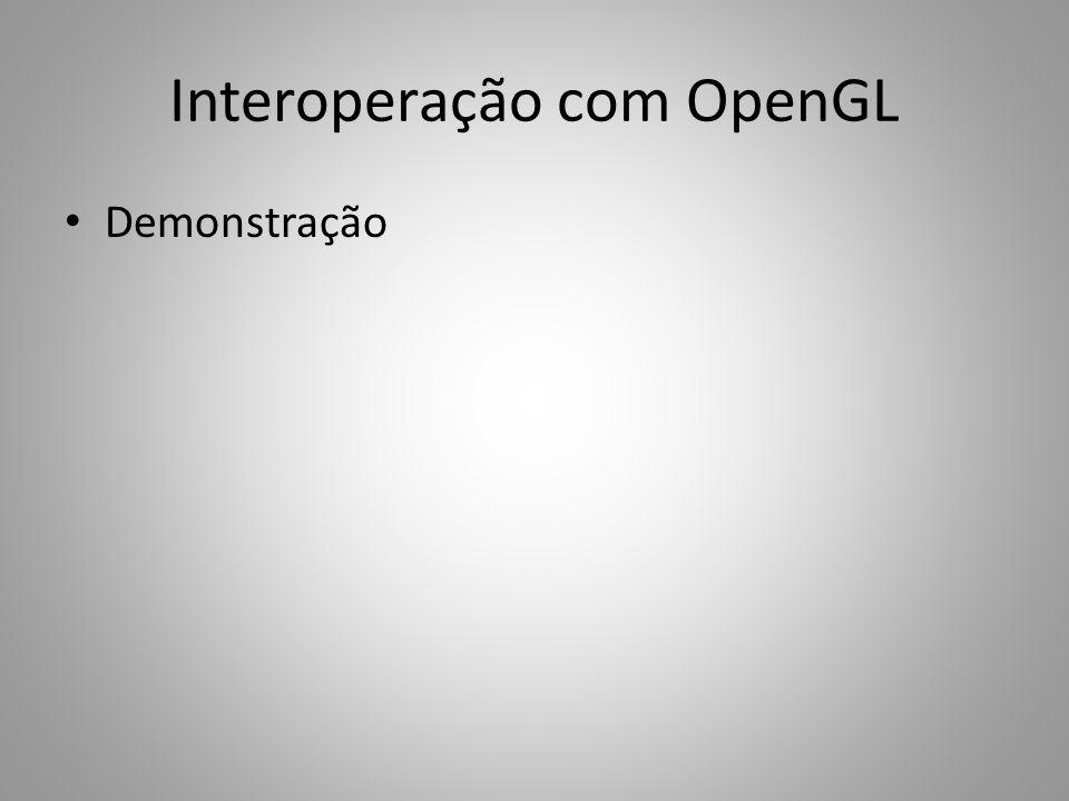 Interoperação com OpenGL Demonstração