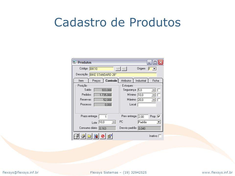 www.flexsys.inf.brFlexsys Sistemas – (19) 32942525flexsys@flexsys.inf.br Cadastro de Produtos
