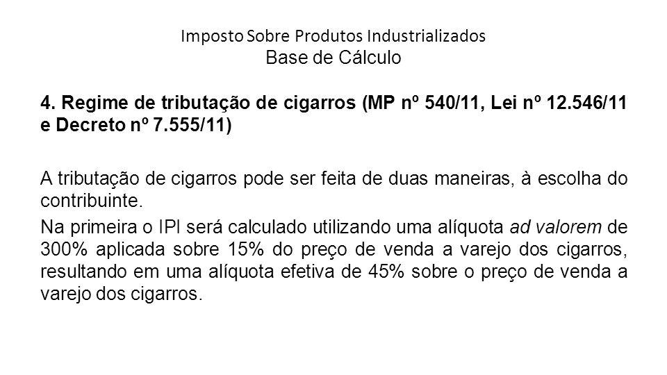 Imposto Sobre Produtos Industrializados Base de Cálculo 4.