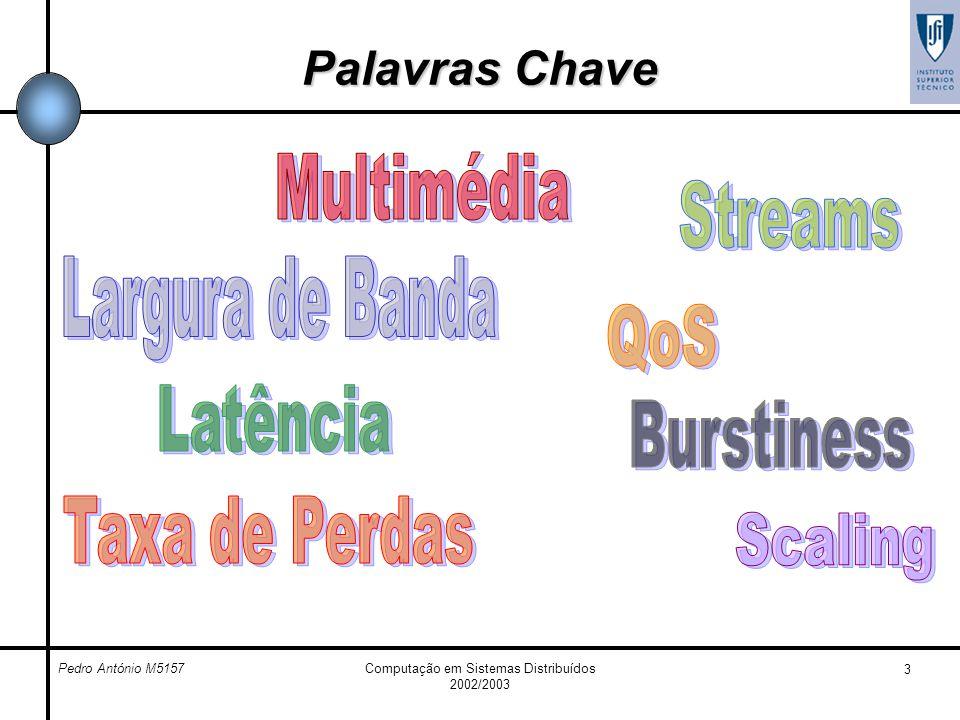 Pedro António M5157Computação em Sistemas Distribuídos 2002/2003 3 Palavras Chave