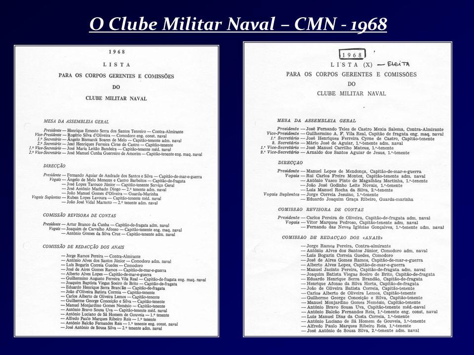 O Clube Militar Naval – CMN - 1968