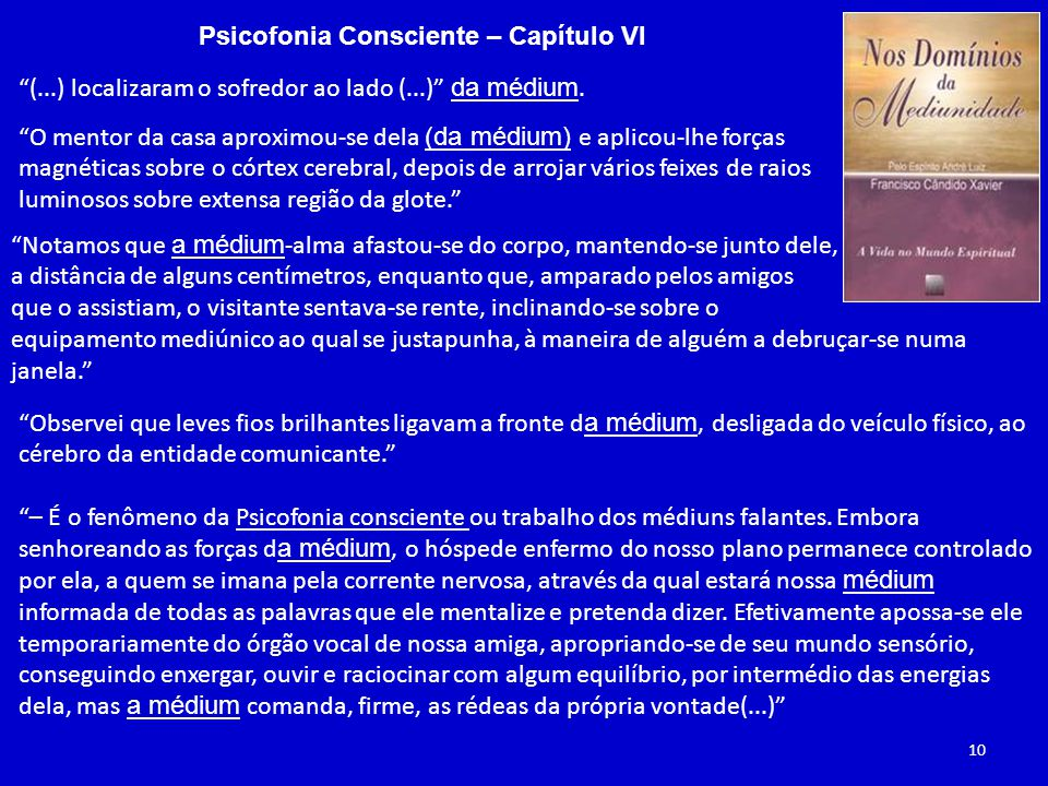 Psicofonia Consciente – Capítulo VI (...) localizaram o sofredor ao lado (...) da médium.