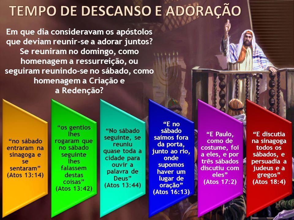 Em que dia consideravam os apóstolos que deviam reunir-se a adorar juntos? Se reuniram no domingo, como homenagem a ressurreição, ou seguiram reunindo